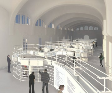 Interior restoration of Sant Salvador pavilion of the Hospital de Sant Pau and museum proposal